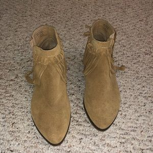 Ankle fringe booties (worn once)